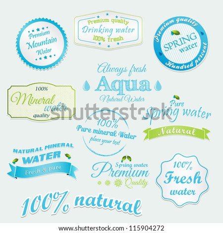 Water bottle label stock images royalty free images for Mineral water label template
