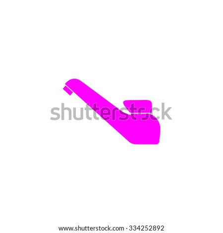 Drinking faucet. Pink flat icon. Simple vector illustration pictogram on white background - stock vector