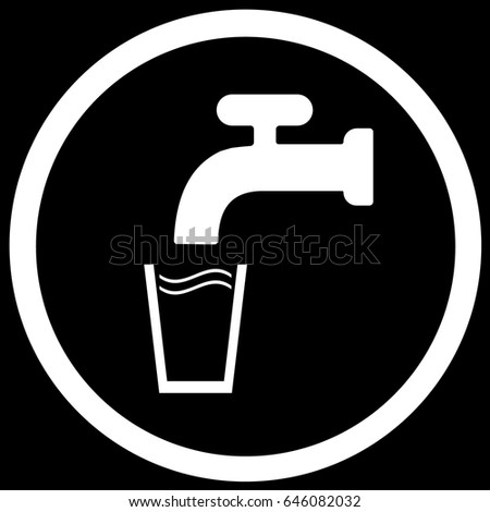 Drinking Water Sign Black Vector Stock Vector 646082032 Shutterstock