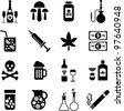 drinks and drugs icons - stock vector