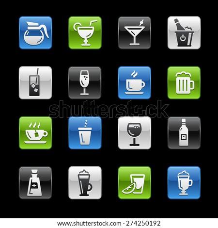 Drinks Icons. Gel Box Series - stock vector