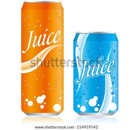 drinks juice cans Set Vector   - stock vector