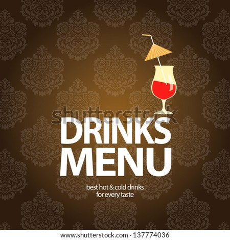 Drinks menu - stock vector