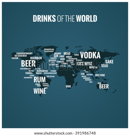 Drinks world vector map social media stock vector 391986748 drinks of the world vector map for social media funny alcohol idea gumiabroncs Gallery