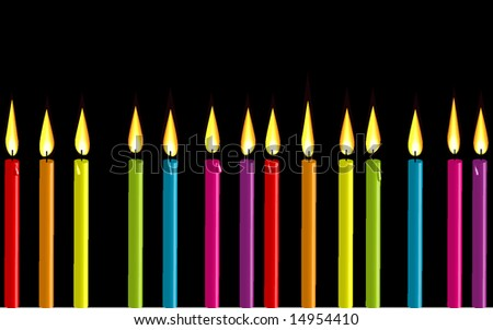 Dripping Birthday Candle Vector