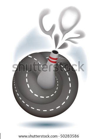 Drive in - stock vector