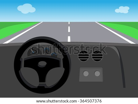 drive view of car - stock vector