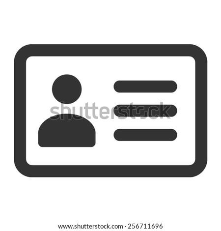 Driver's license identification card line art icon - stock vector