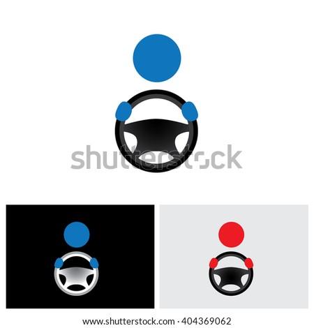 driver vector logo icon in eps 10 format - stock vector