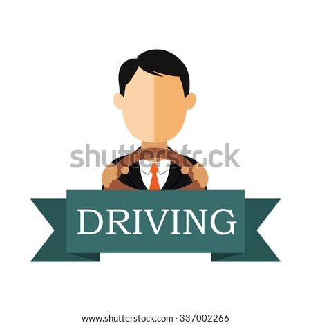 Driving school logo template. - stock vector