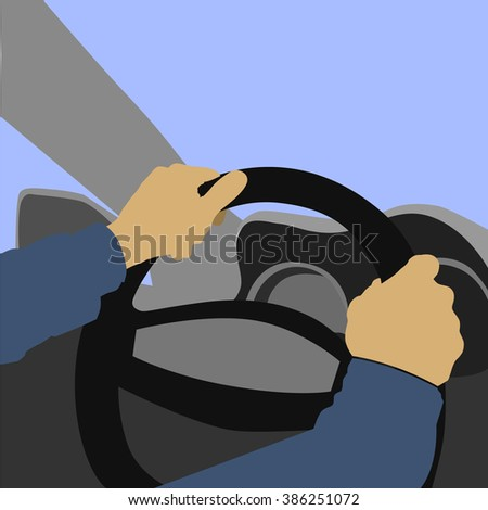 Driving  Vector Illustration - stock vector