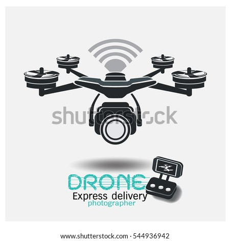 Drone Icon Delivery And Photo Video With Camera Symbol Circle Square Buttons