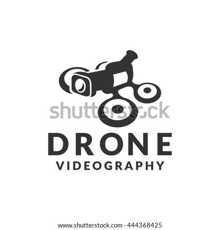 Drone Icon Camera Logo Video