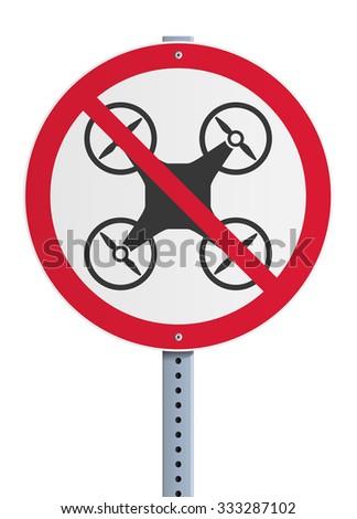 Drone prohibited - stock vector