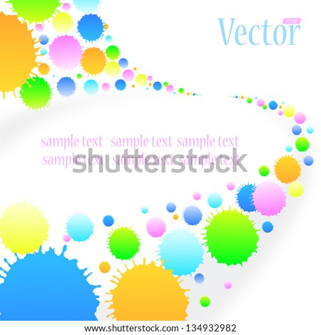 Drop a Perspective view. - stock vector