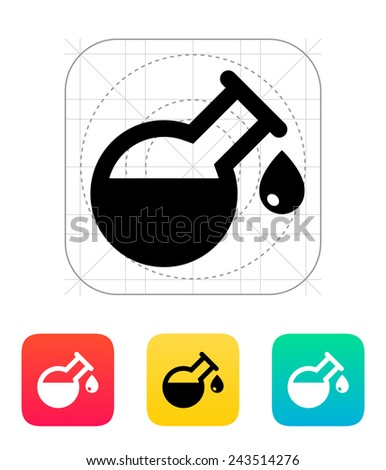 Drop from florence flask icon on white background.. Vector illustration. - stock vector