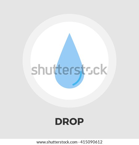 Drop icon vector. Flat icon isolated on the white background. Editable EPS file. Vector illustration. - stock vector