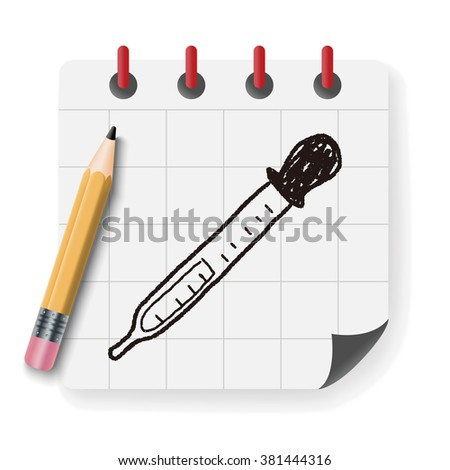 dropper doodle - stock vector