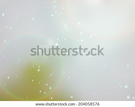 Drops of rain on the window with sunn glare. Shallow DOF. plus EPS10 vector file - stock vector