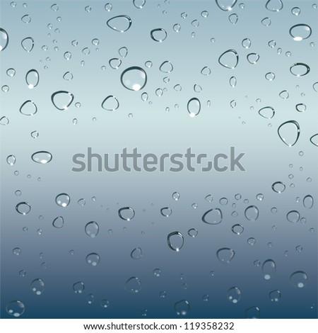 drops of water. Vector - stock vector