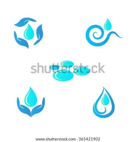 Drops vector design represents save water concept. - stock vector