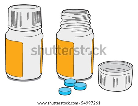 Drug bottle - stock vector