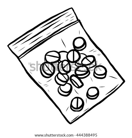 Drug pills plastic pack cartoon vector stock vector for How to draw a pill