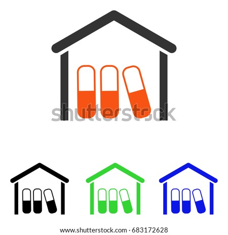 Drugs Garage Vector Pictogram Illustration Style Stock Vector