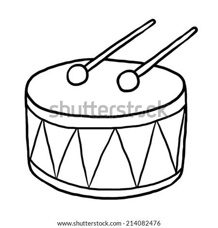 Stock Images similar to ID 80010868 - stylized drum kit ... White Drum Set Silhouette