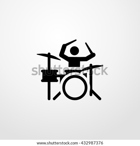drummer icon. drummer sign - stock vector