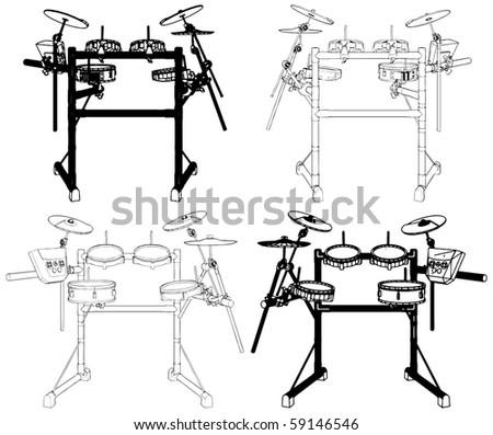 Drums Vector 09 - stock vector