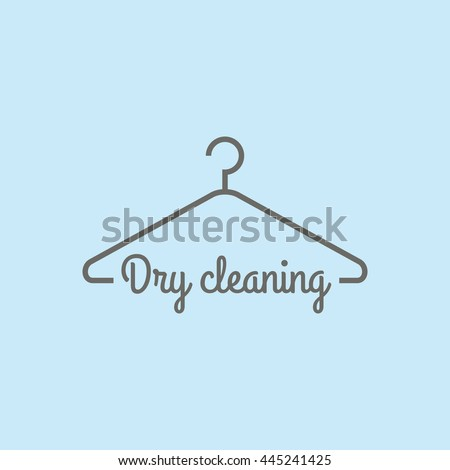 Dry Cleaning Service Clothes Hanger Symbol Stock Vector 445241425