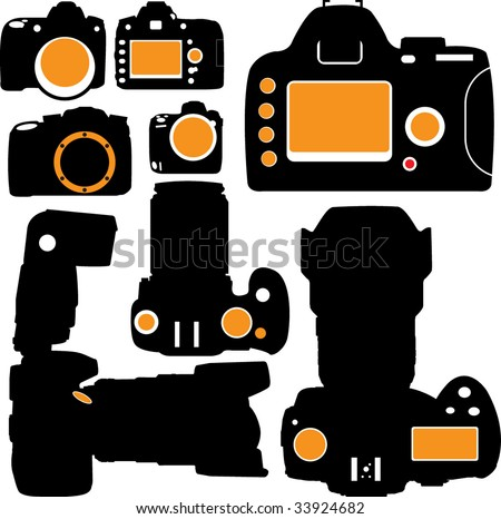 DSLR  vector - stock vector