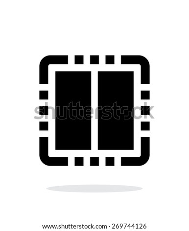 Dual Core CPU simple icon on white background. Vector illustration. - stock vector