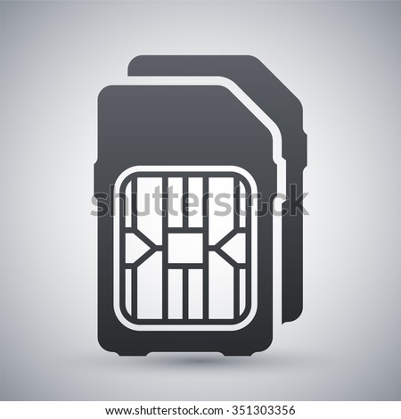 Dual SIM cards icon, vector - stock vector