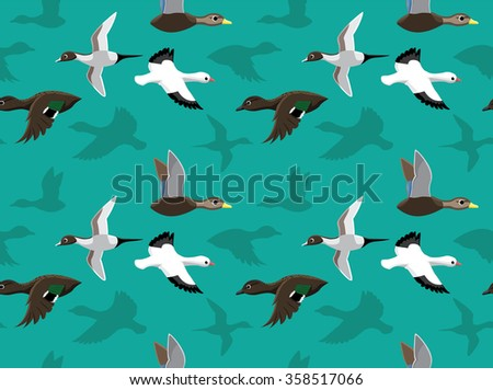 Ducks Wallpaper 5 - stock vector