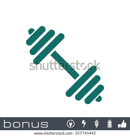 Dumbbell icon - stock vector