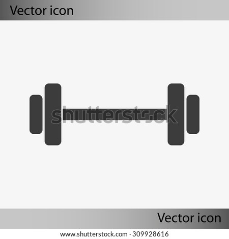 Dumbbell Icon Vector Dumbbell Weights Symbo...