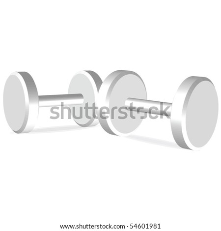Dumbells illustration - stock vector