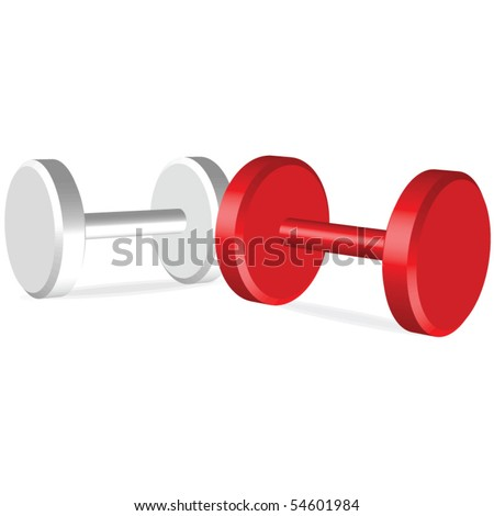 Dumbells illustration - stock vector