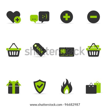 Duo tone Icons - E commerce - stock vector