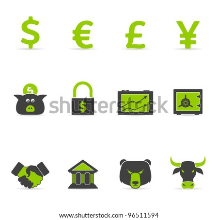 Duotone Icons - Finance - stock vector