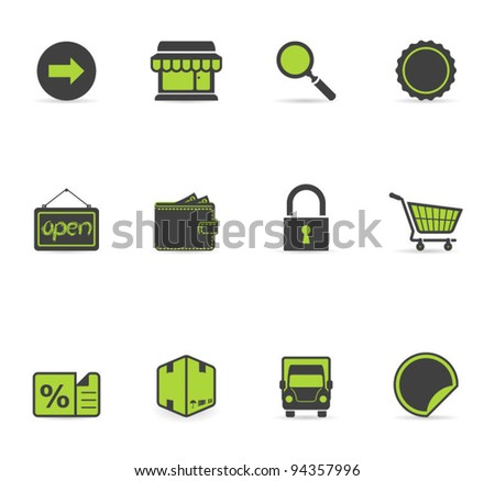 Duotone Icons - More Ecommerce - stock vector