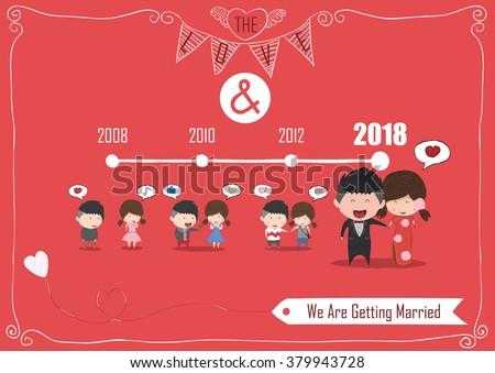 Duration Cute Cartoon Wedding Couple Men Vector 379943728 – Digital Valentine Card