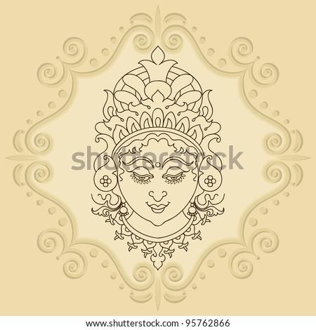 Durga - stock vector