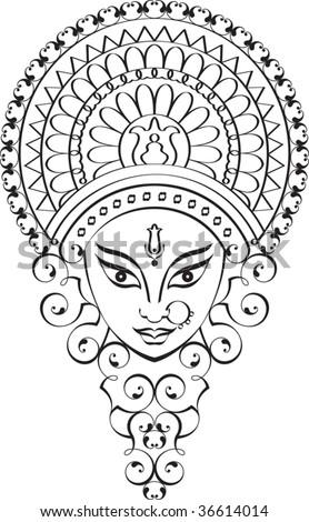Durga Calligraphic ornamental - stock vector