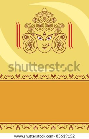 Durga Design - stock vector