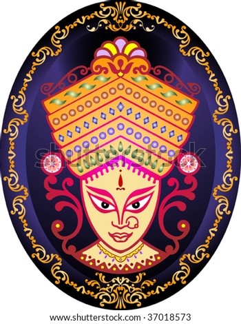 Durga Indian Goddess - stock vector