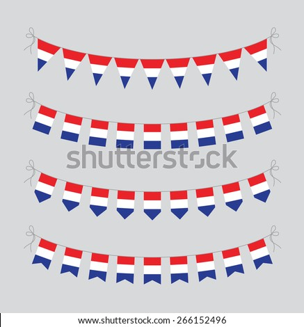 dutch bunting - stock vector