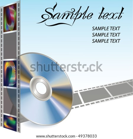 DVD and filmstrip - stock vector